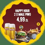 Happy Hour                   2 x Małe Piwo Tyskie 0,33 za 4,99 zł - sprawdź promocje