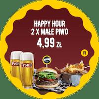 Happy Hour 2 x małe piwo za 4,99 zł do zestawu