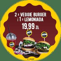 2 x Veggie Burger 1 x Lemoniada za 19,99 zł