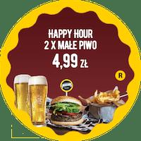 Happy Hour - 2 x małe piwo za 4,99 zł