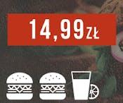 2 x Veggie Burger i 1 x lemoniada za 14,99 zł