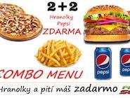 COMBO MENU - ZDARMA HRANOLKY A 2KS PEPSI
