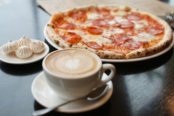 Pizza & Coffee at Work