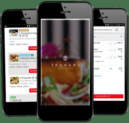 Pobierz naszą aplikację i zamów sushi z dostawą