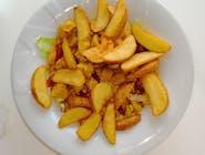 Potato z kebabem drobiowym