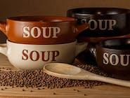 Zupa Gulaszowa z kleksem śmietan