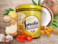 Smalec z organicznego oleju kokosowego z curry, imbirem i kurkumą 346 ml