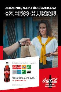 Do każdego zamówienia z napojem dodatkowo Coca-Cola ZERO 0,5l GRATIS