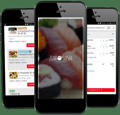 Jedzenie na telefon przez aplikację