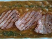 Iahnie de Fasole cu Mușchi de Porc Afumat la Grătar