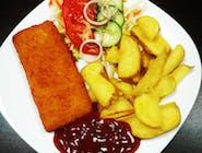 40. Vyprážané rybie filé so zemiakovými lyžičkami