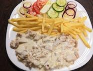 9. Kebab syrový tanier