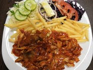 7. Kebab sweet chilli tanier