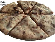 26. Gruzińskie Chaczapuri, ciasto drożdżowe nadziewane mieszanką twarogu i serem mozzarella