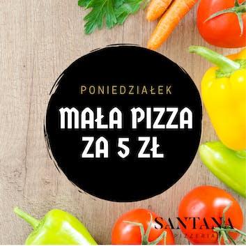 Poniedziałek - Mała pizza za 5zł przy zakupie pizzy gigant