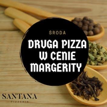 Środa - Przy zakupie pizzy gigant, druga w cenie margherity