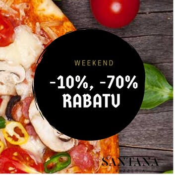 -10% na drugą pizzę w Weekend