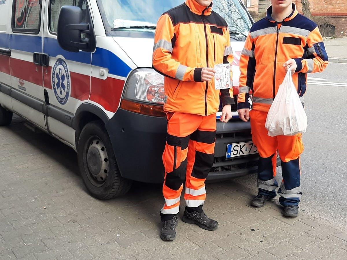 Posiłek dla służb medycznych z Chorzowskich szpitali