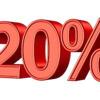 20 %  NA  SALI i W DOSTAWIE