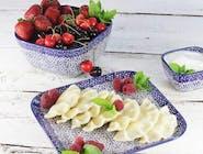 Pierogi z serem z dodatkiem karmelizowanych owoców