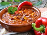 Zupa meksykańska z mięsem, fasolką i kukurydzą