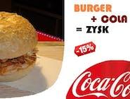 Kebab burger + Coca Cola 0,5l