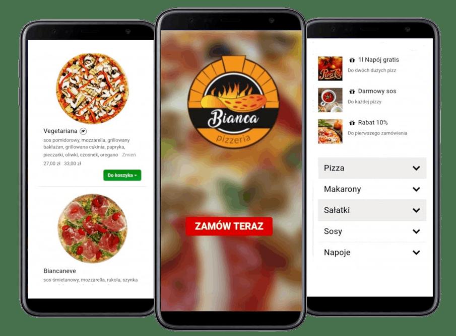 Zamawiaj pizzę z naszej aplikacji