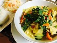 Pasta Curry z kurczakiem