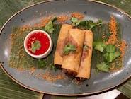 Sajgonki - Spring Rolls - tradycyjne - ręcznie robione przez naszych kucharzy - codziennie świeże - podawane z naszym firmowym słodkim sosem chilli - wow :)  - VEGE !!!
