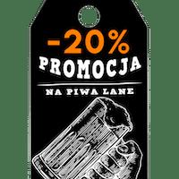 We wtorki zniżka -20% na Piwo Lane