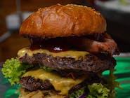 Burger Bydlak z frytkami