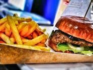 Zestaw burger pac klasyk w bułce z sezamem