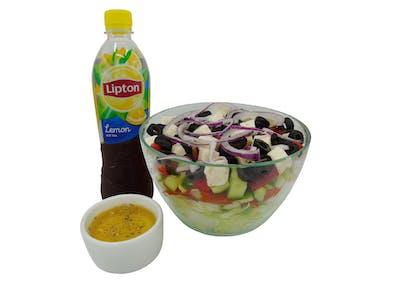 Sałatka Grecka+0,5 woda/lipton