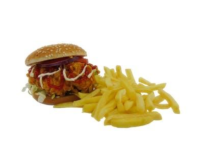 Burger i frytki