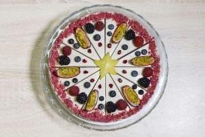 Raw torta rafaelo s malinami 25cm