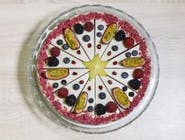 Raw torta rafaelo s malinami  19cm
