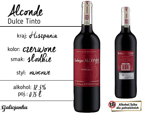 Alconde Dulce Tinto 0,75 l