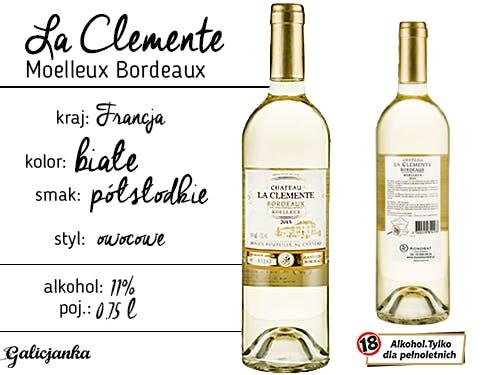 La Clemente Moelleux Bordeaux 0,75 l