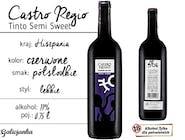 Castro Regio Tinto Semi Sweet 0,75 l