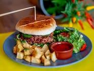 Burger z chorizo