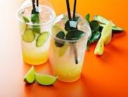 Napój cytryna i mięta(woda gazowana,syrop limonka i mięta,cytryna,) 0,3