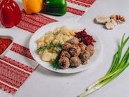 Frykadelki w smażone+ziemniaki gotowane