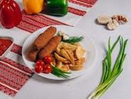 Kiełbaski lwowskie+ziemniaki po-kozacku