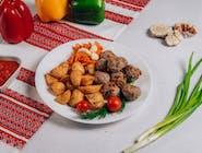 Frykadelki smażone+ziemniaki wiejskie