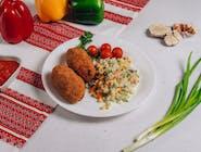 Kruczenyki+ryż z warzywami