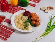 Frykadelki w sosie+ziemniaki gotowane