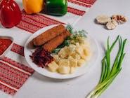 Kiełbaski lwowskie+ziemniaki gotowane