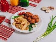 Frykadelki w sosie+ziemniaki po-kozacku