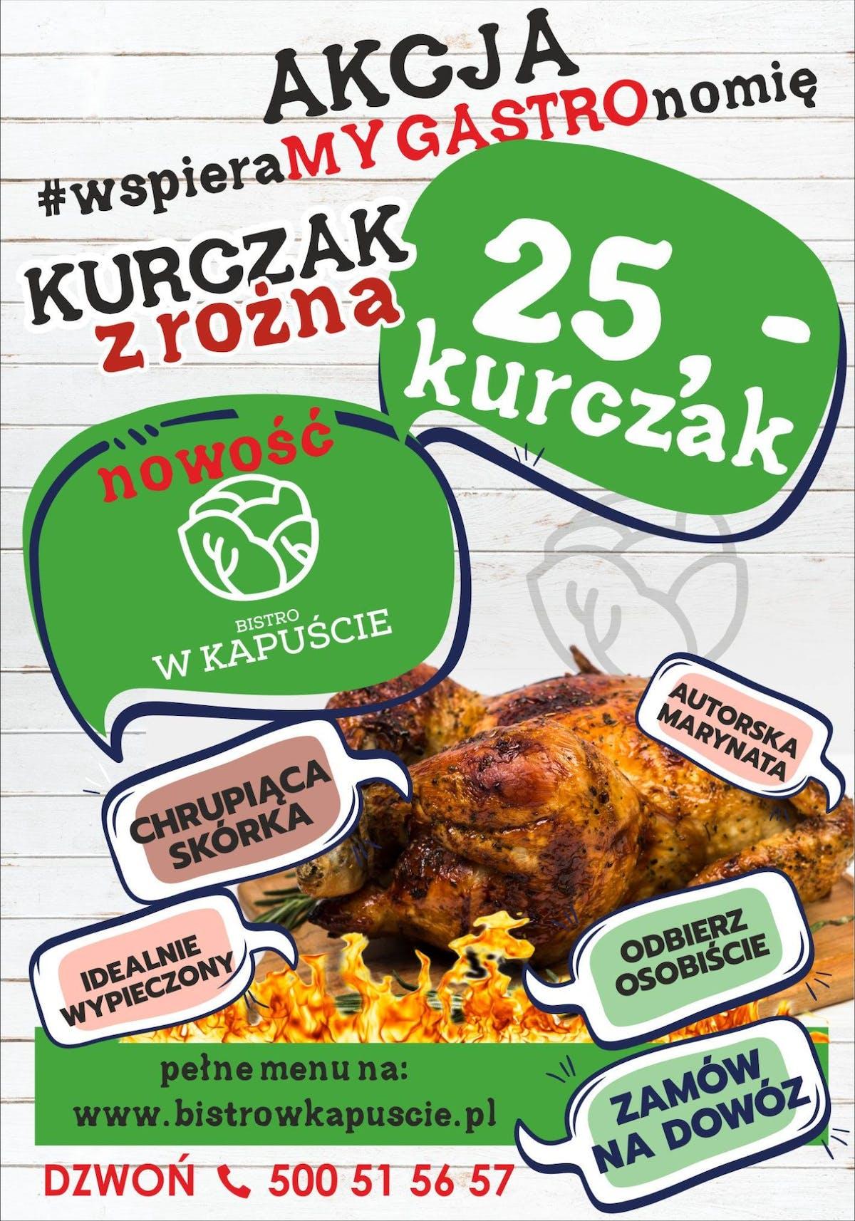 Kurczak z rożna (duży) na 2- 3 osoby