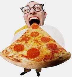 Duży kawałek pizzy